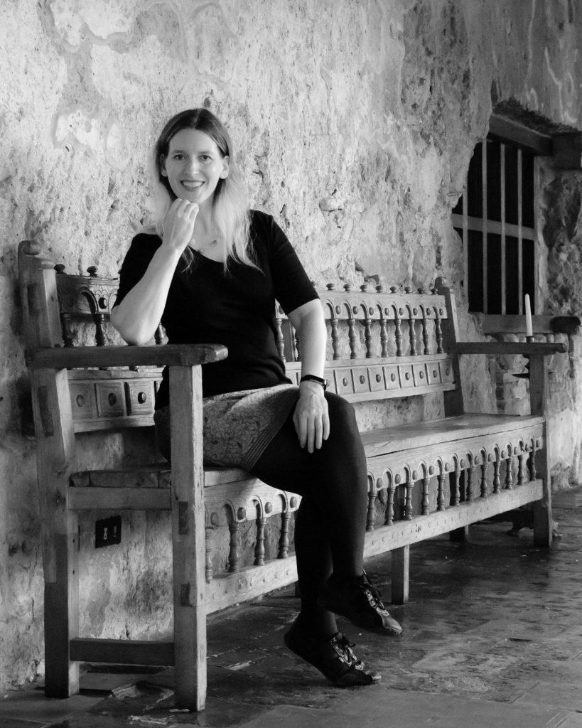 Portrait of Stefanie in Casa Santo Domingo, Antigua Guatemala BY RUDY GIRON