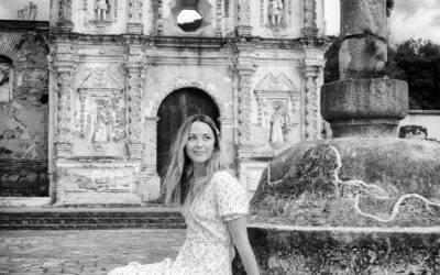 Portrait of Vanessa Pilon by the Ruins of Santa Isabel in Antigua Guatemala