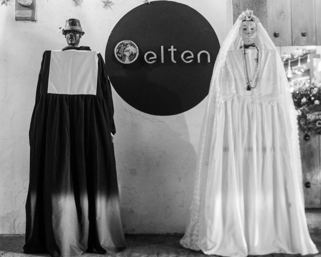 Street Photography — The giant bride and bridegroom from Antigua Guatemala by RUDY GIRON